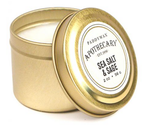 Sea Salt & Sage Travel Tin Candle
