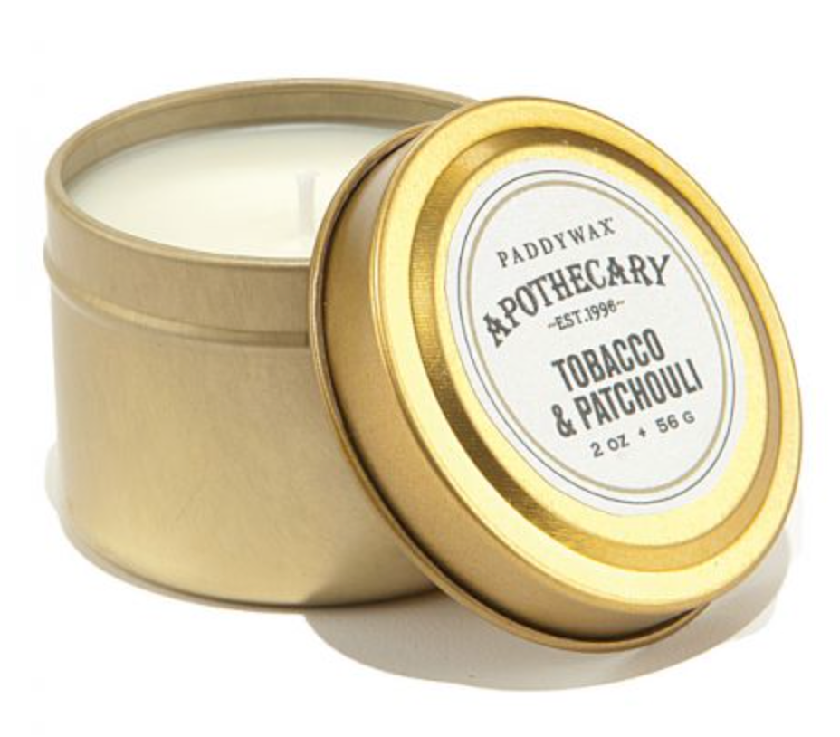 Tobacco & Patchouli Travel Tin Candle