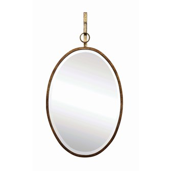 Oval Metal Framed Wall Mirror