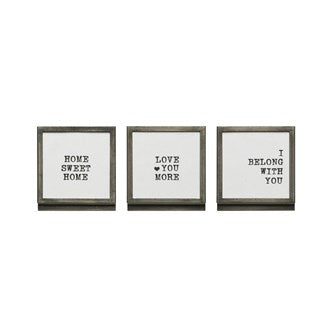 Small Framed Love prints