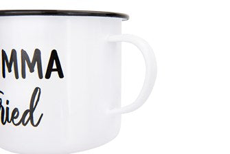 Enameled Mug with Southern Saying