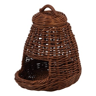 Hand-Woven Wicker Vegetable Basket