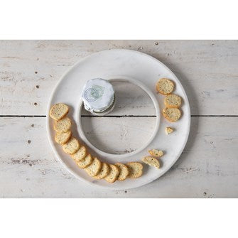 Round Marble Cracker Tray