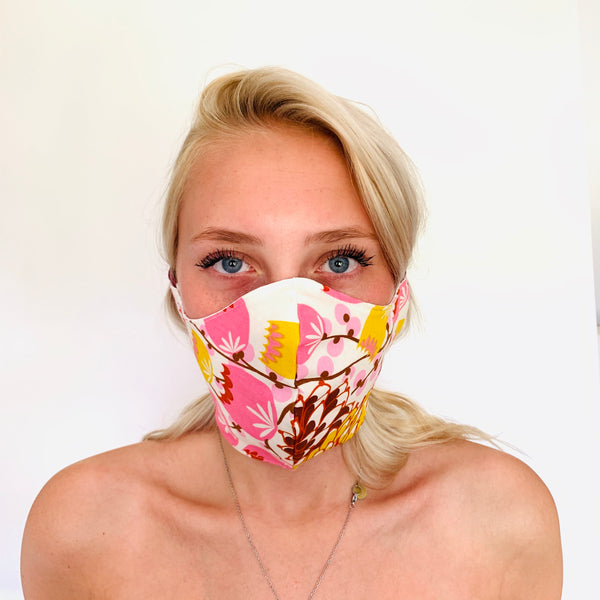 Appliqué Cotton Face Mask