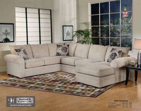 Three-Piece U-Sectional Ridge Mandarin