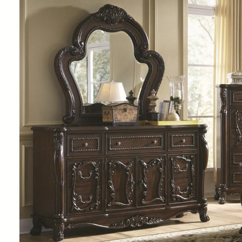 Abigail Victorian 7 Drawer Dresser With 2 Doors And Lion Claws. Furniture