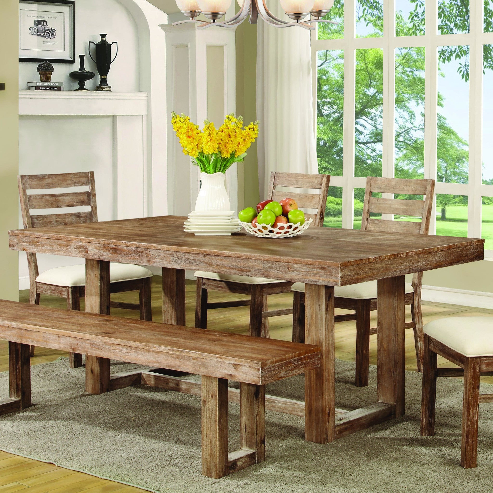 Elmwood Rustic Dining Room Table
