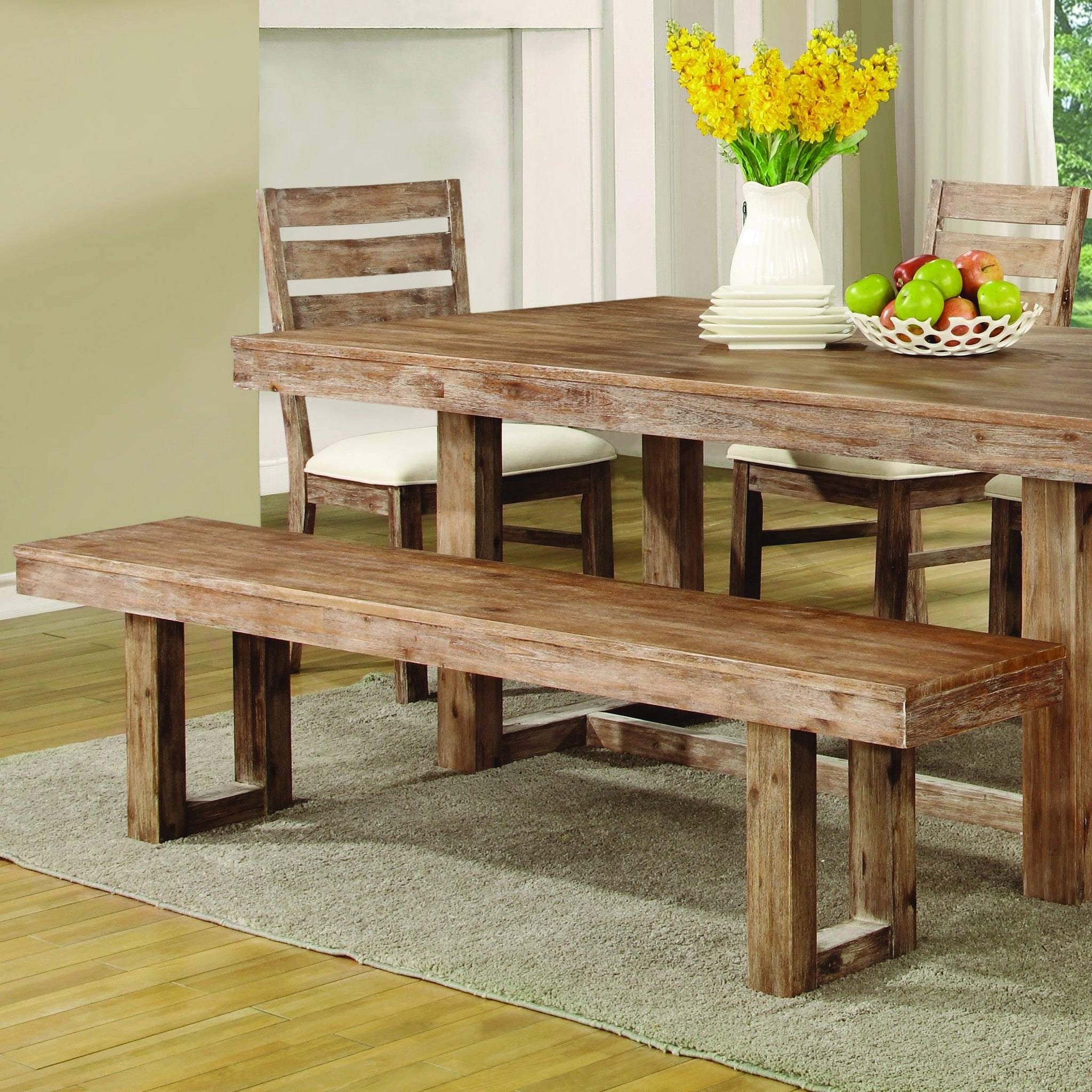 Superb ... Elmwood Rustic Dining Bench ...