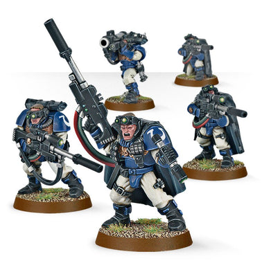 Warhammer 40K: Space Marine Scout Squad with Sniper Rifles