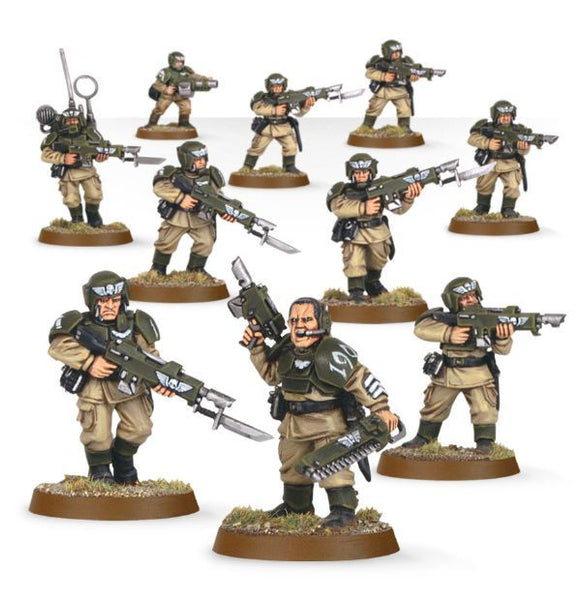 Warhammer 40k Astra Militarum Cadian Shock Troops
