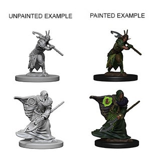 D&D Unpainted Minis: Elf Male Druid