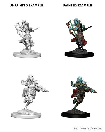 D&D Unpainted Minis: Air Genasi Female Rogue