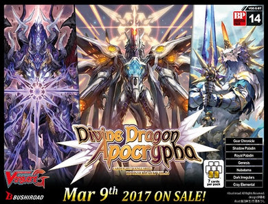 Cardfight Vanguard GBT 14 Divine Dragon Apocrypha Booster Box [Pre-Order 03/09/18]