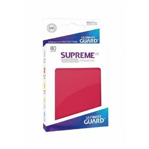 Ultimate Guard Supreme UX Sleeves: Matte Red