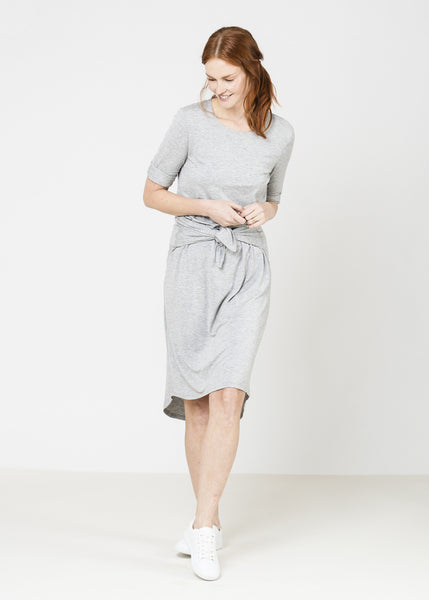 SALE-The FrockClassicT Dress - Marl Grey