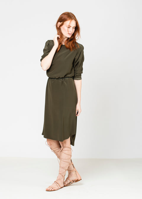 Silky T Dress - Olive