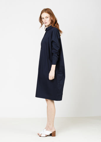 SHIRT DRESS-NAVY
