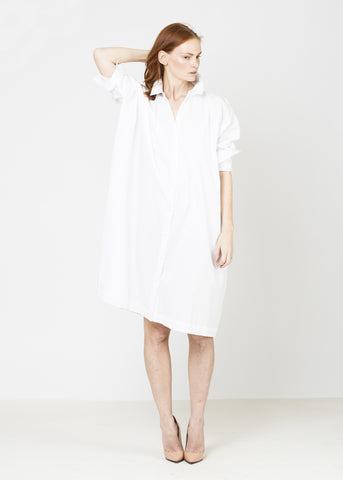 Shirt Dress- White
