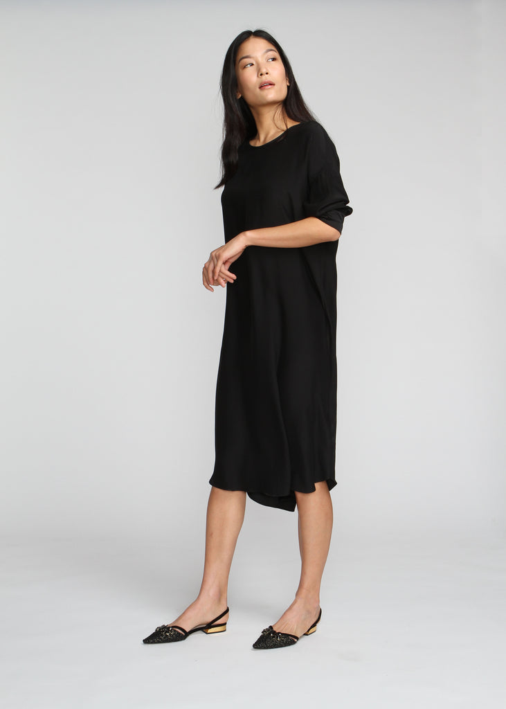 Silky T Dress - Black - Last Chance Sale - The Frock NYC