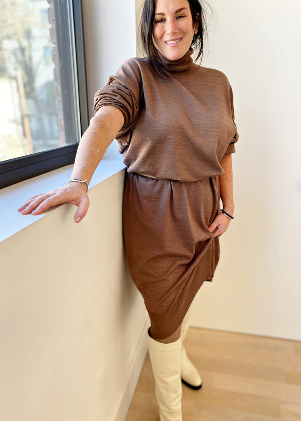 Knit Dress - Brown - The Frock NYC
