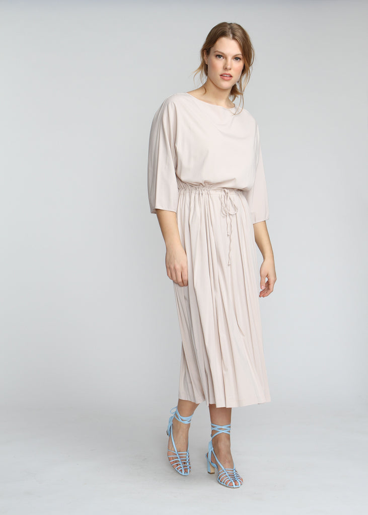 Drawstring Maxi - Cream - The Frock NYC