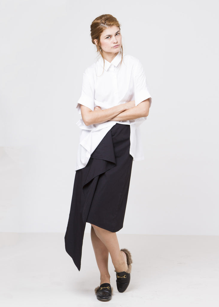 The Frock Wrap Skirt - Black $108