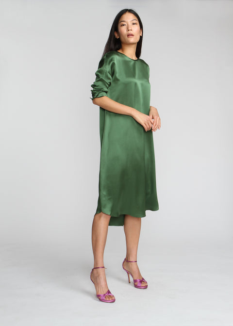 Silky T Dress - Ivy Green