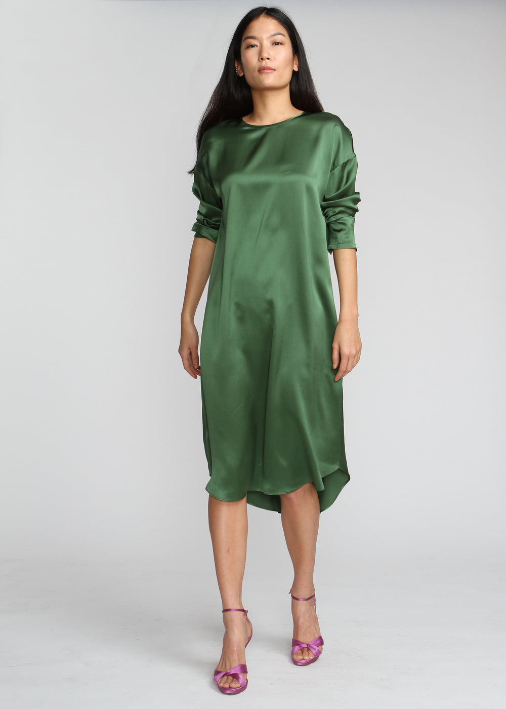 Silky T Dress - Ivy Green - The Frock NYC