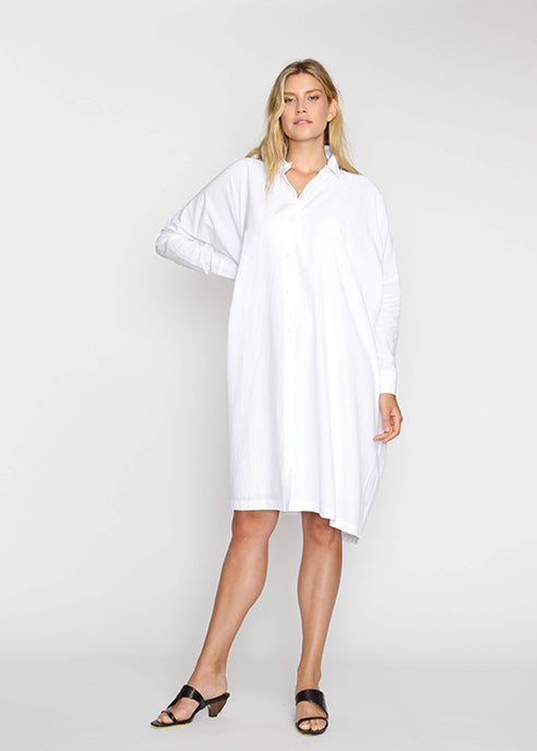 The Shirt Dress - White - The Frock NYC