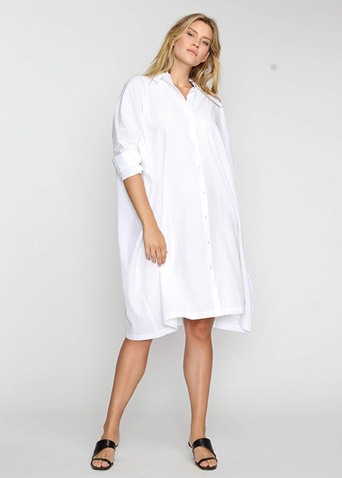 The Shirt Dress - White