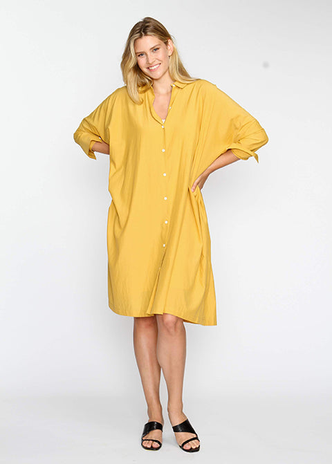 The Shirt Dress - Mustard