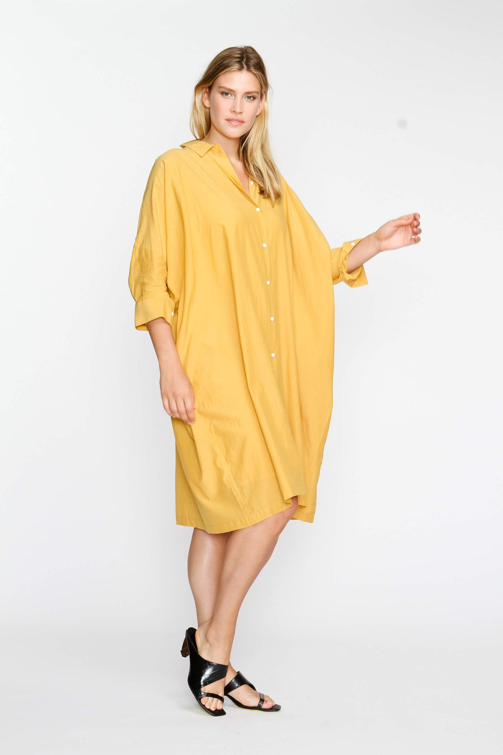 The Shirt Dress - Mustard - The Frock NYC