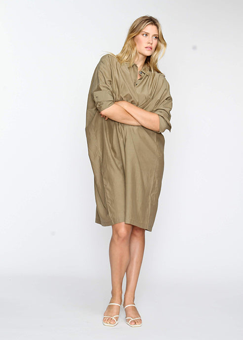 The Shirt Dress - Khaki - The Frock NYC