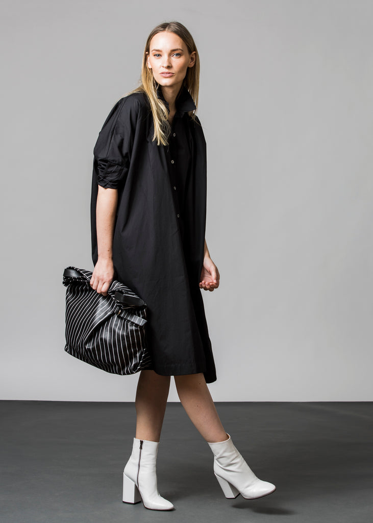 Shirt Dress-Black