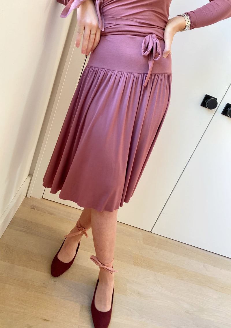 Band Skirt - Mauve - The Frock NYC