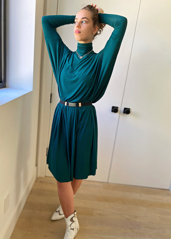 Fluid Turtleneck - Teal - The Frock NYC