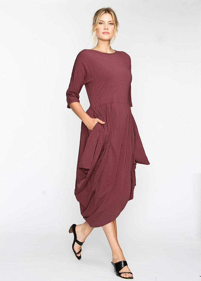 Year Round Maxi AKA YRM -  Burgundy - Last Chance Final Sale - The Frock NYC
