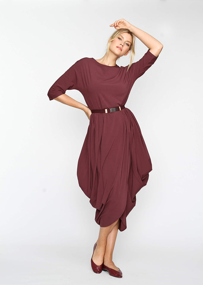 Year Round Maxi AKA YRM -  Burgundy - The Frock NYC