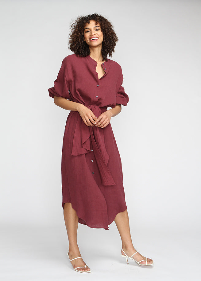 Marrakech - Burgundy - The Frock NYC