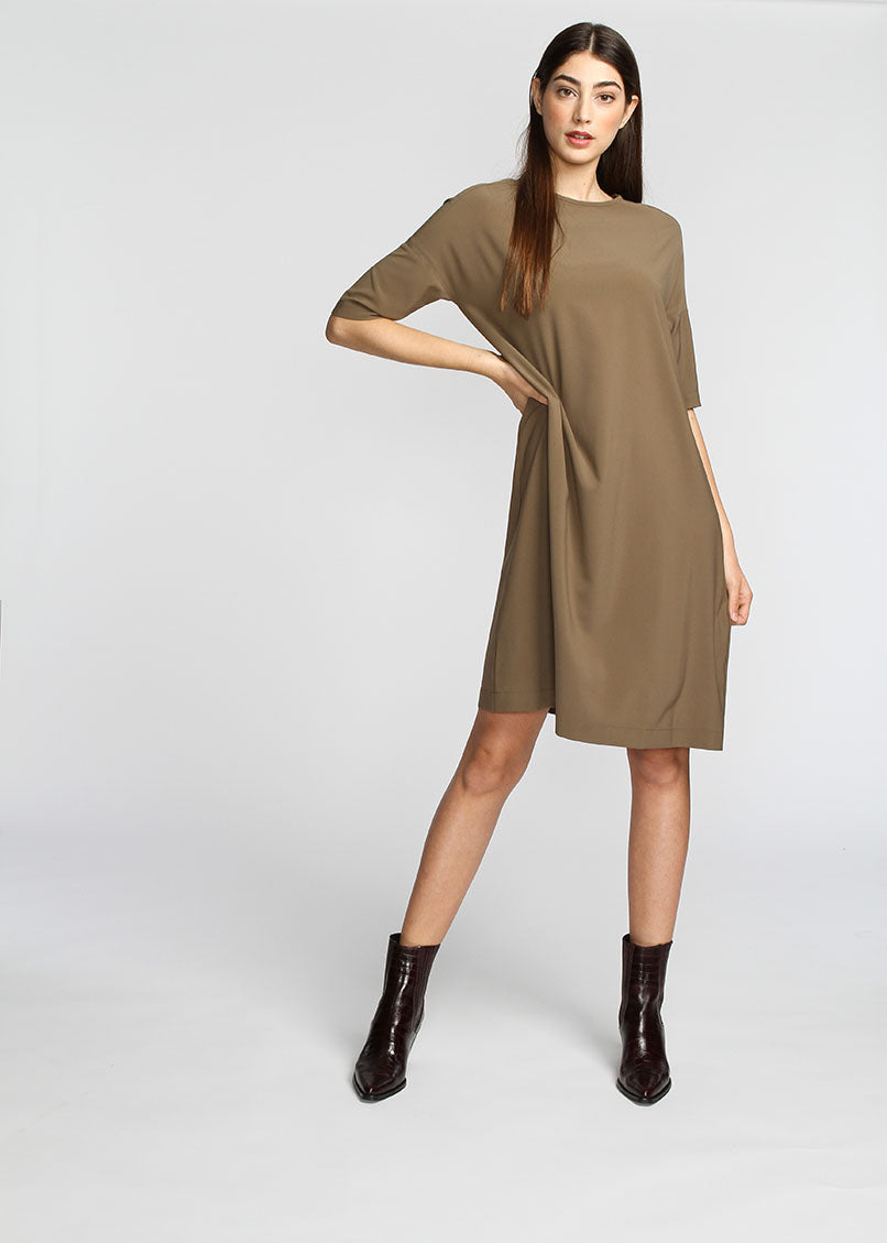 Basic Dress - Khaki