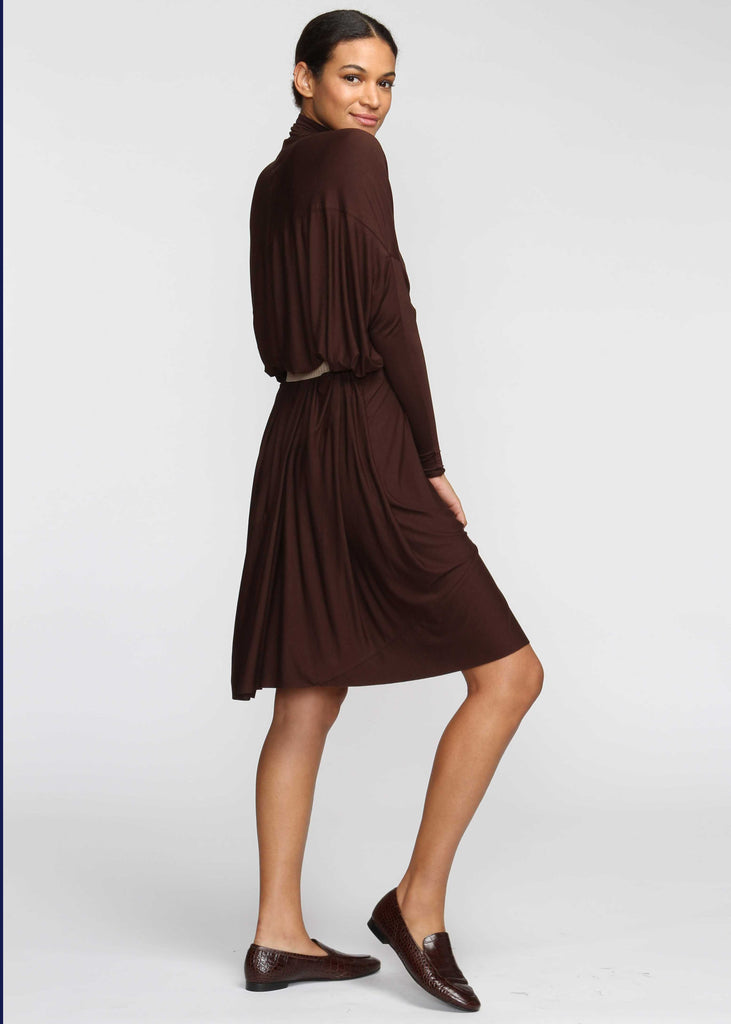 Fluid Turtleneck - Chocolate - The Frock NYC