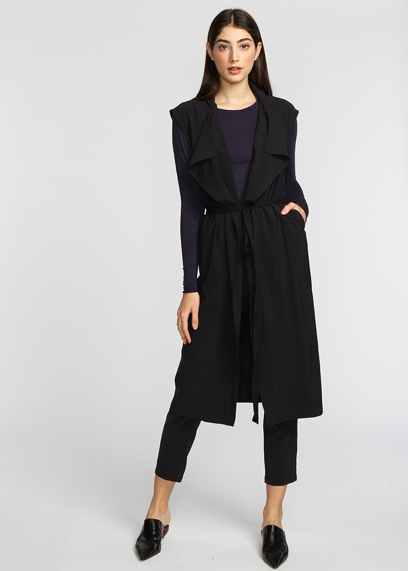 The Vest Dress - Navy - The Frock NYC