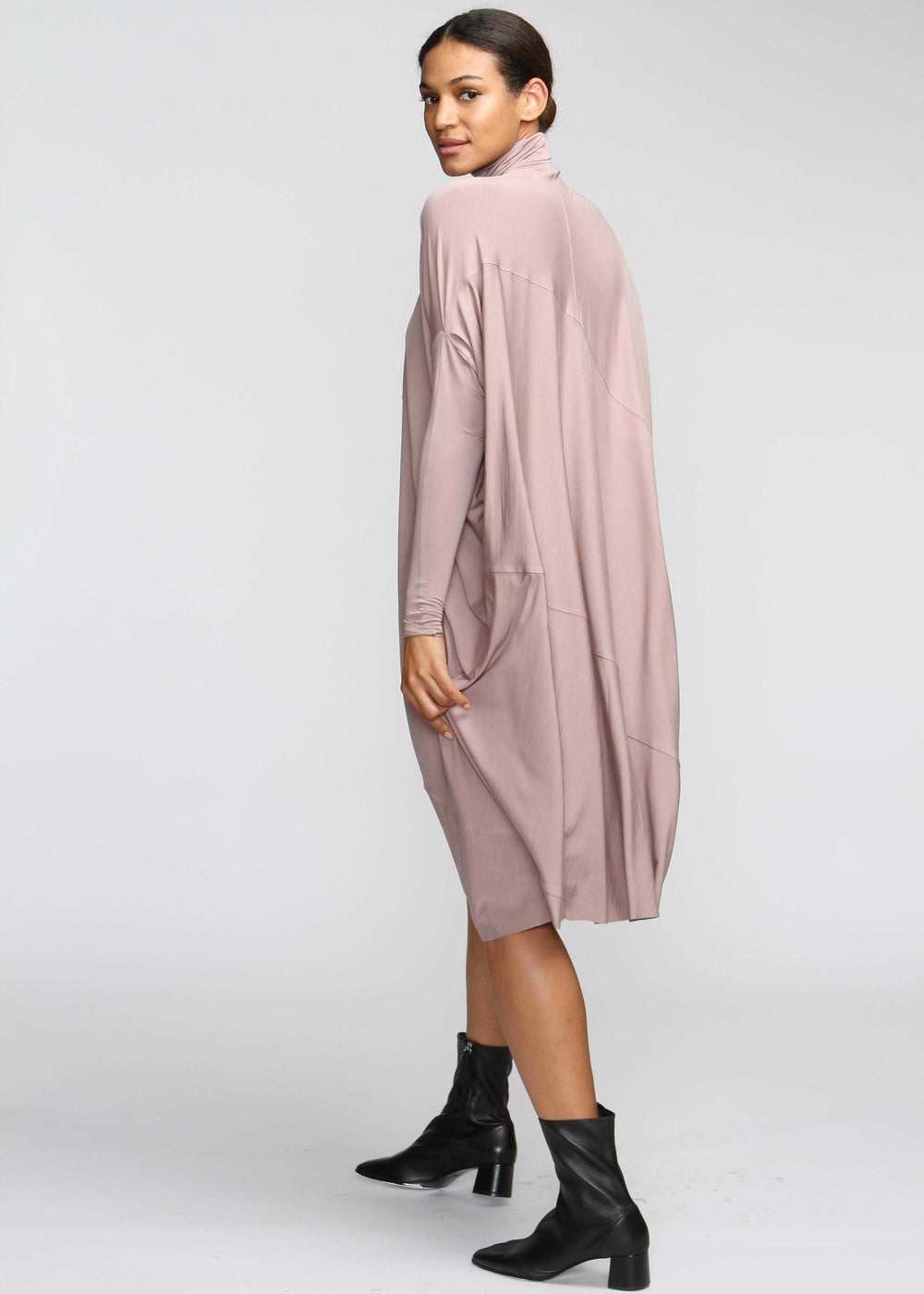 Fluid Turtleneck - Taupe - The Frock NYC