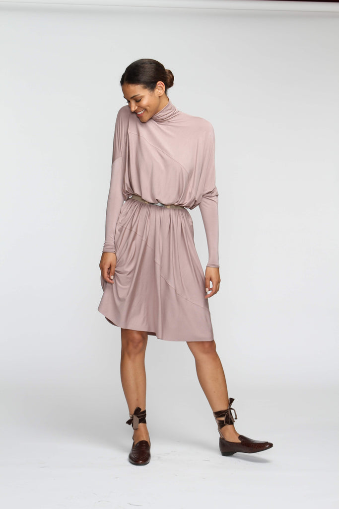 Fluid Turtleneck - Taupe - FINAL SALE - The Frock NYC