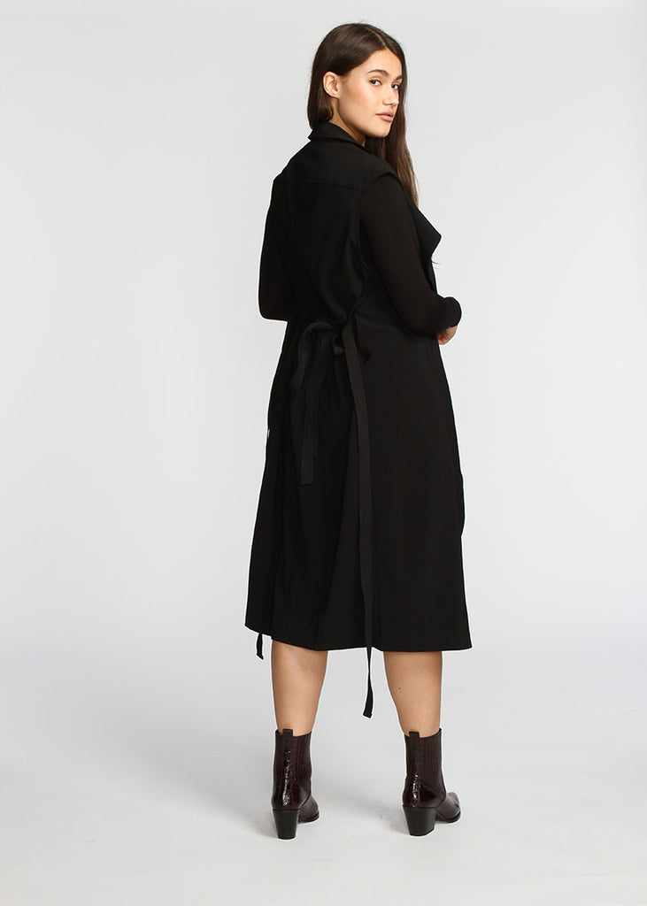 The Vest Dress - Black - The Frock NYC