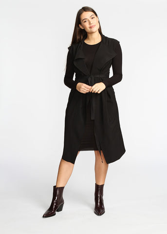 The Vest Dress - Black