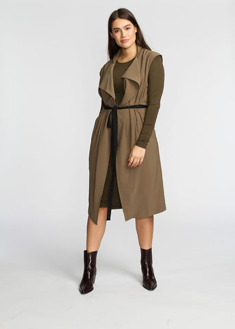 The Vest Dress - Khaki