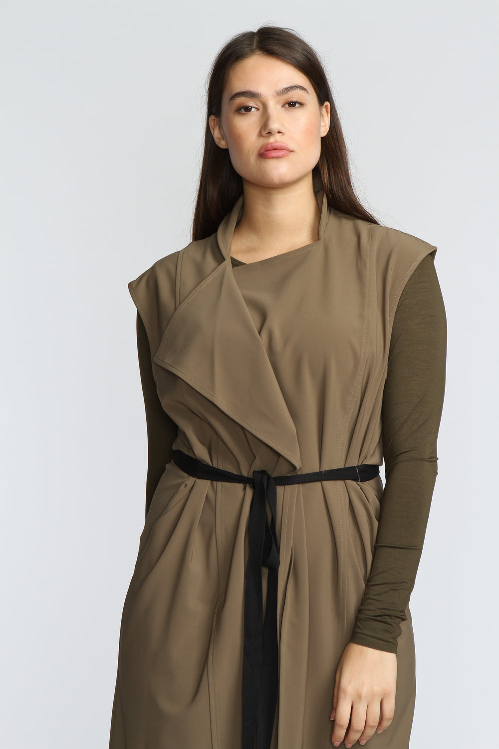 The Vest Dress - Khaki - The Frock NYC
