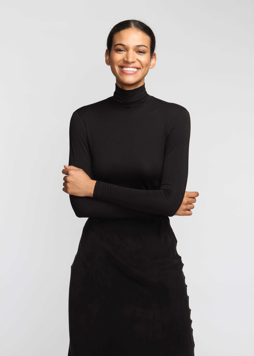 Turtleneck T - Black - The Frock NYC