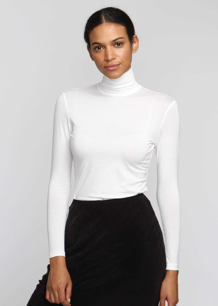 Turtleneck T - White - The Frock NYC